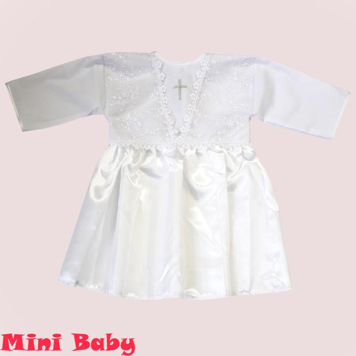 Крестильная рубашка для девочки 033н