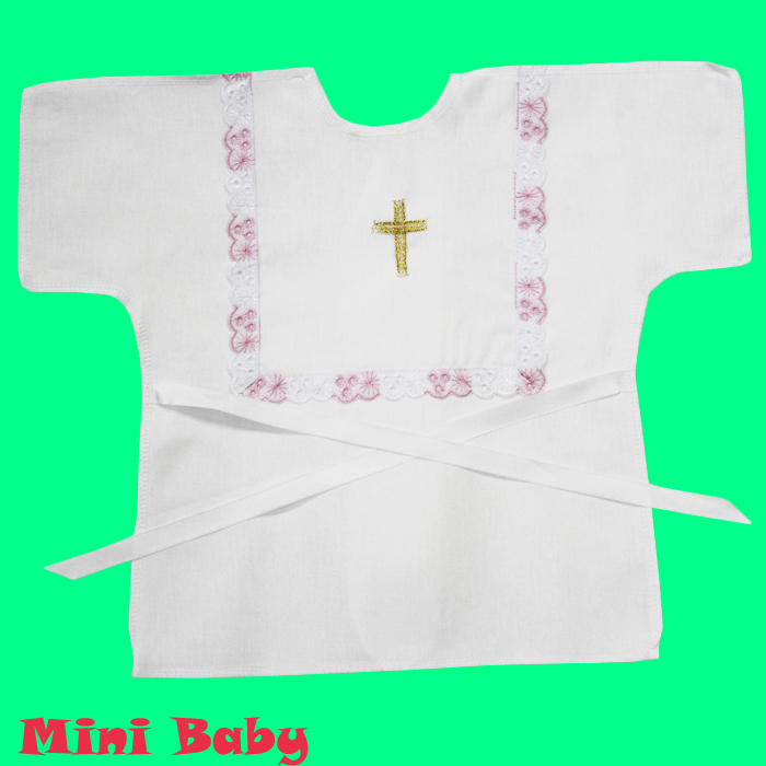 Крестильная рубашка для девочки 006